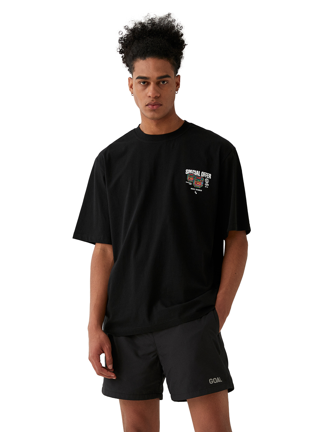 GOALSTUDIO MC BALM LOGO GRAPHIC TEE - BLACK