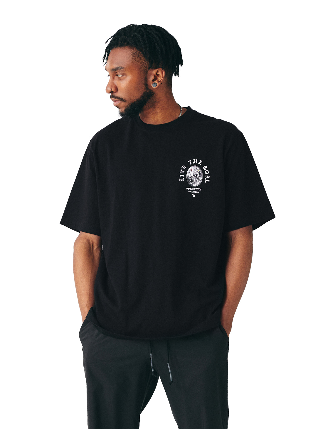 GOALSTUDIO MC COIN GRAPHIC TEE - BLACK