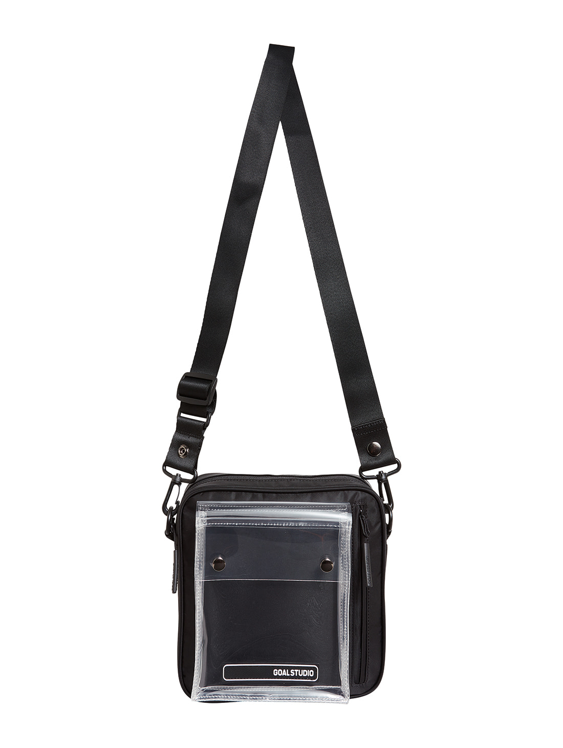 GOALSTUDIO LOGO WAPPEN SMALL BAG - BLACK