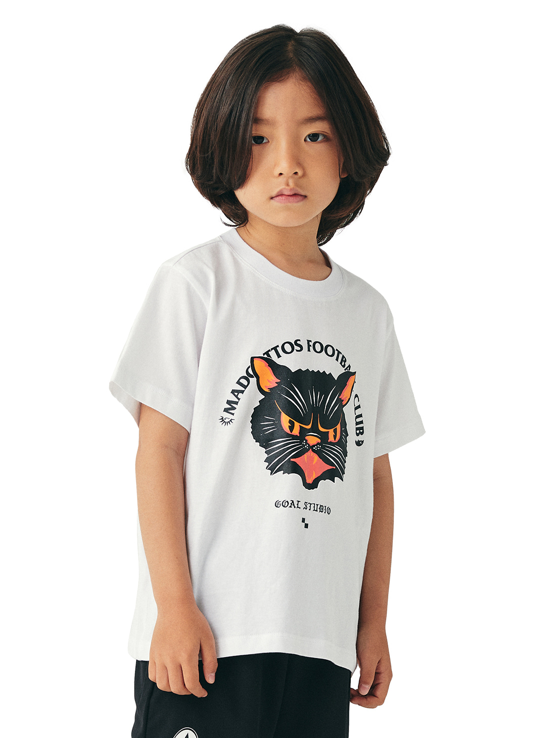 GOALSTUDIO (KIDS) MC FACE GRAPHIC TEE - WHITE