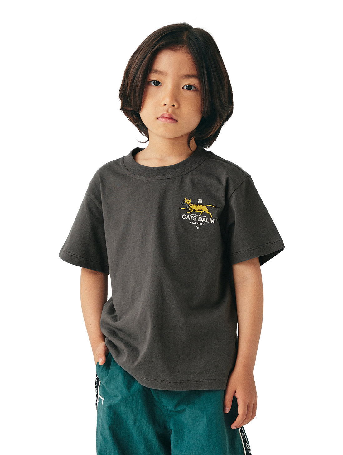 GOALSTUDIO (KIDS) MC BALM GRAPHIC TEE - DARK GREY