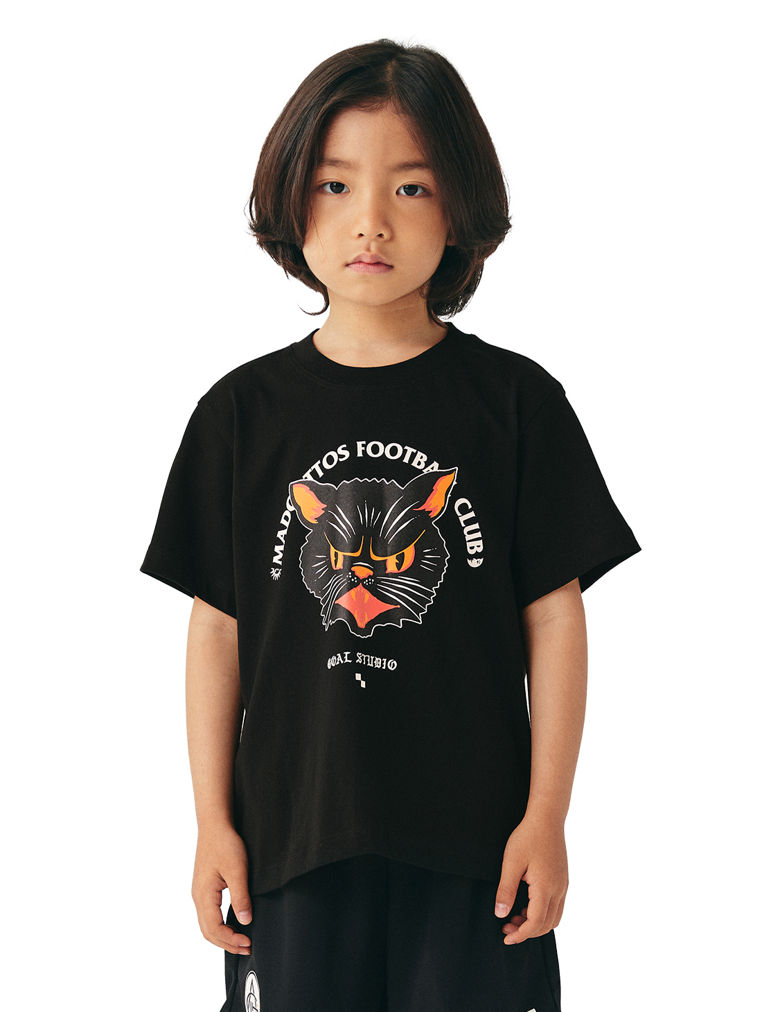 GOALSTUDIO (KIDS) MC FACE GRAPHIC TEE - BLACK