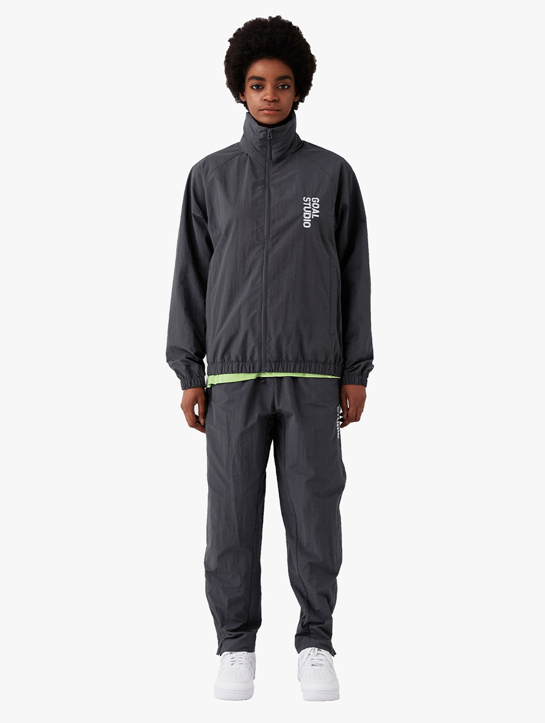 GOALSTUDIO [10% OFF] NYLON BLEND WIND BREAKER & WOVEN PANTS SET