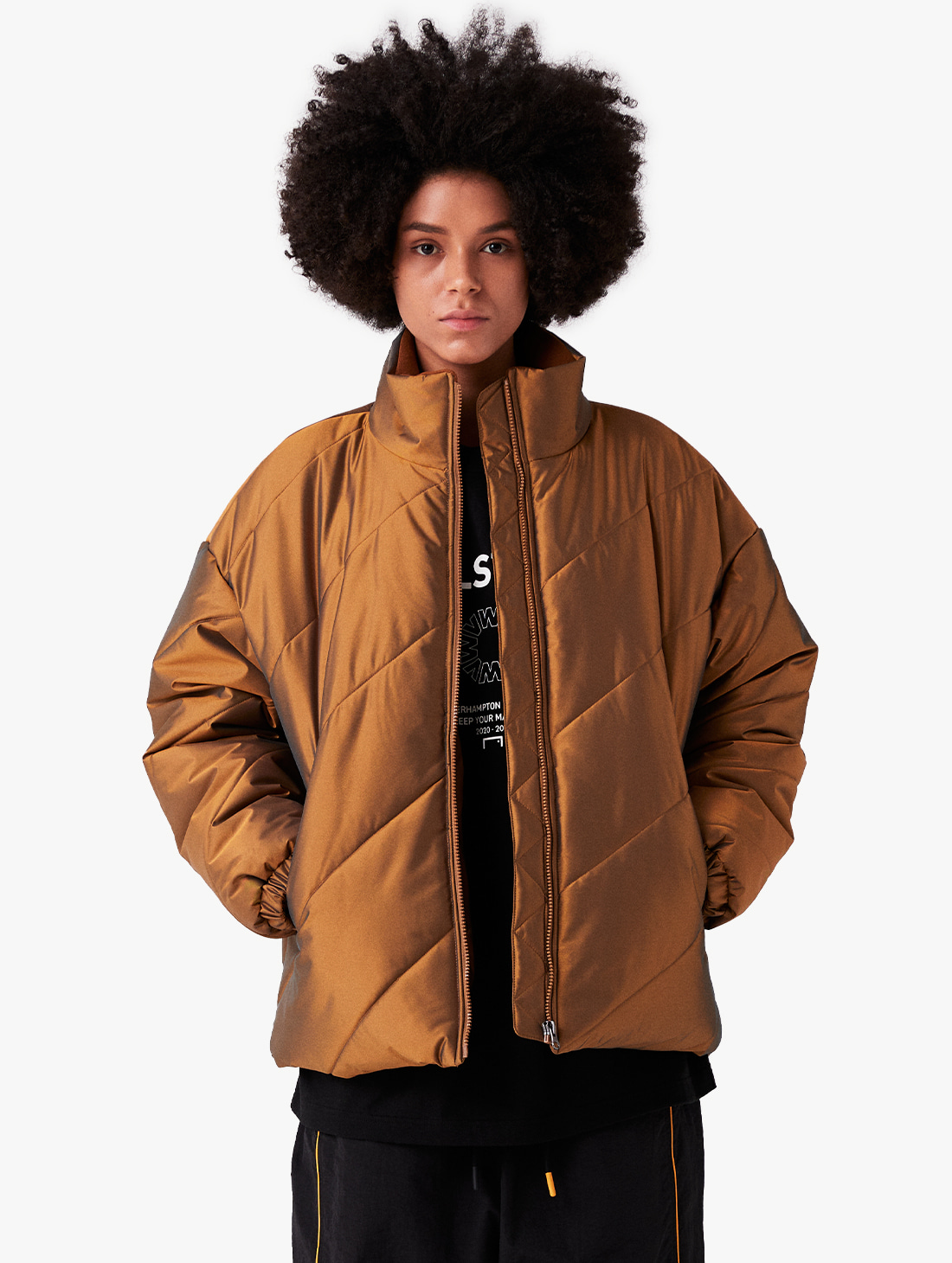 GOALSTUDIO (Sold Out) WWFC DIAGONAL TWO TONE PADDED JACKET