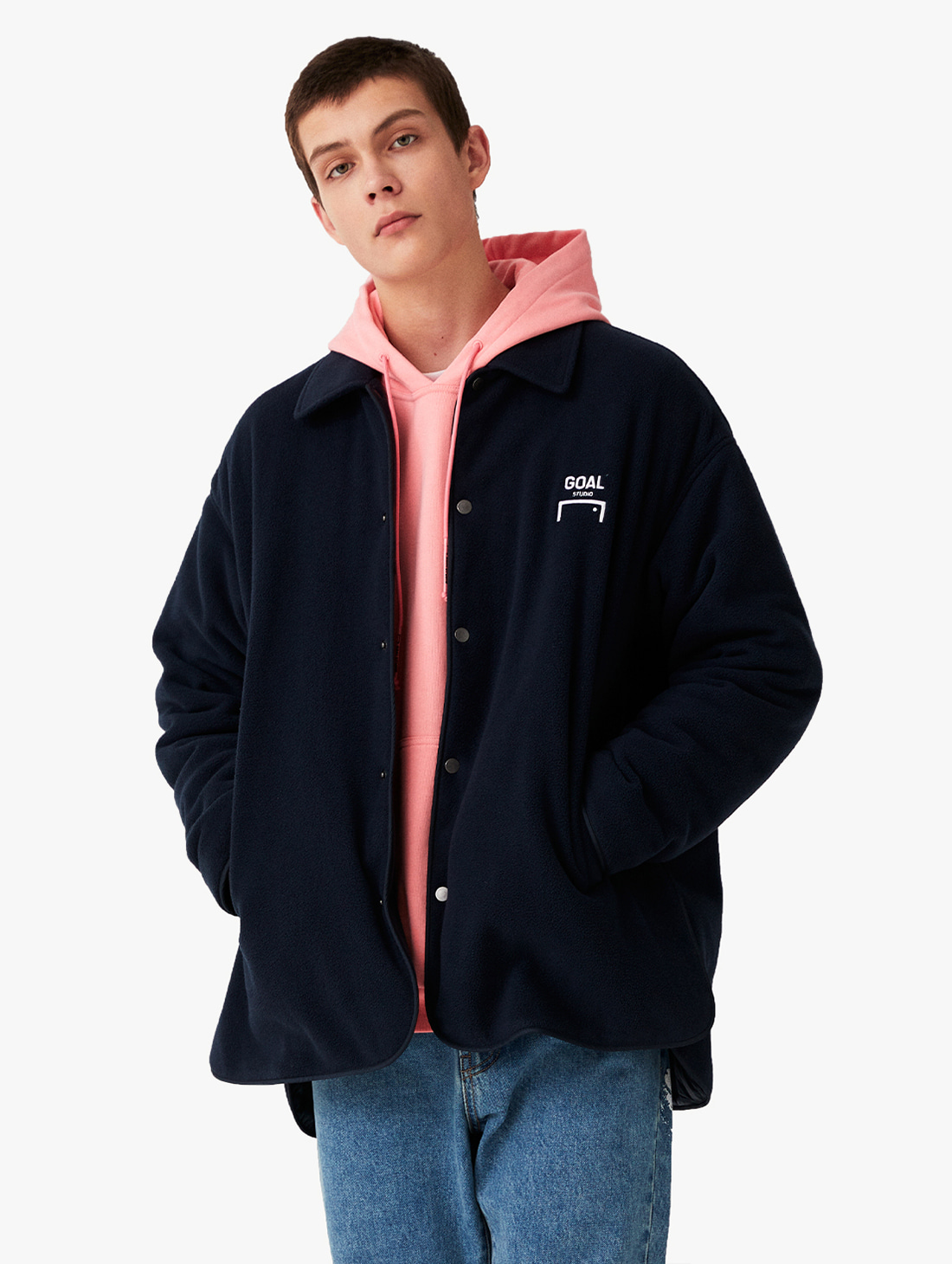 GOALSTUDIO OVERSIZED FLEECE SHIRTS JACKET (2 Colors)