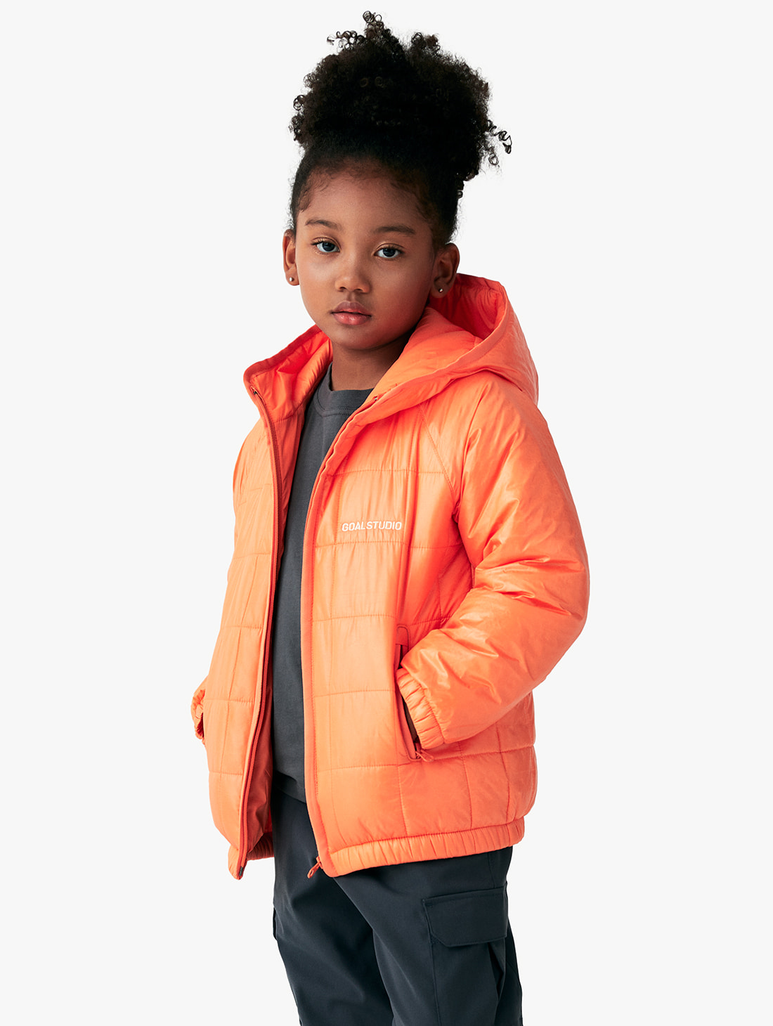 GOALSTUDIO (KIDS) QUILTED PUFFER JACKET (3 Colors)