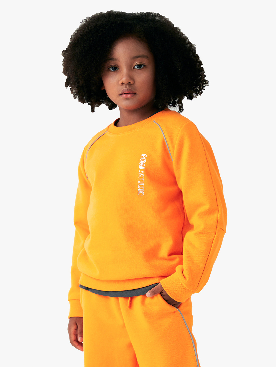 GOALSTUDIO (KIDS) PIPING SWEATSHIRT (3 Colors)