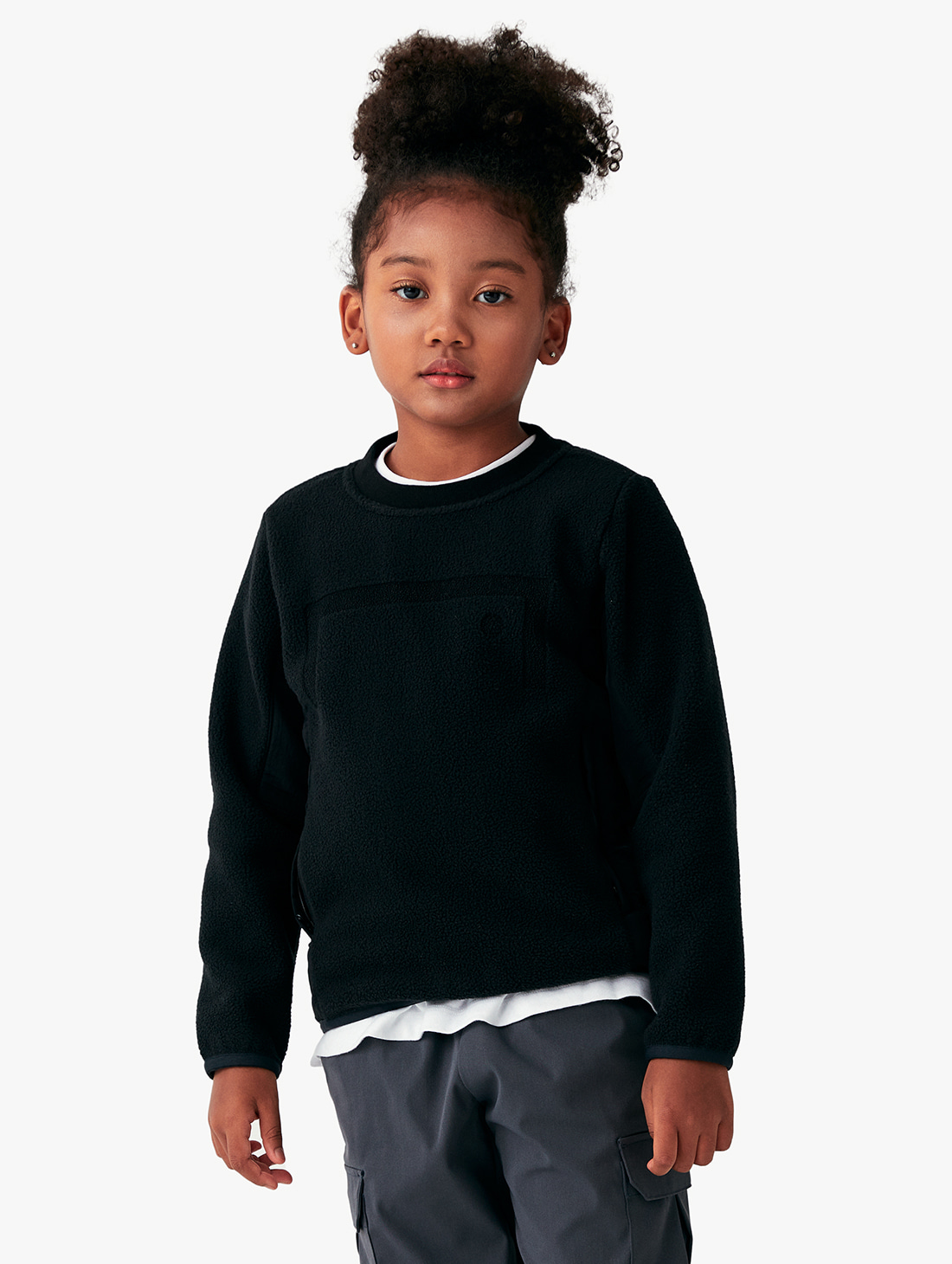 GOALSTUDIO (KIDS) NYLON METAL MIXED FLEECE SWEATSHIRT (2 Colors)