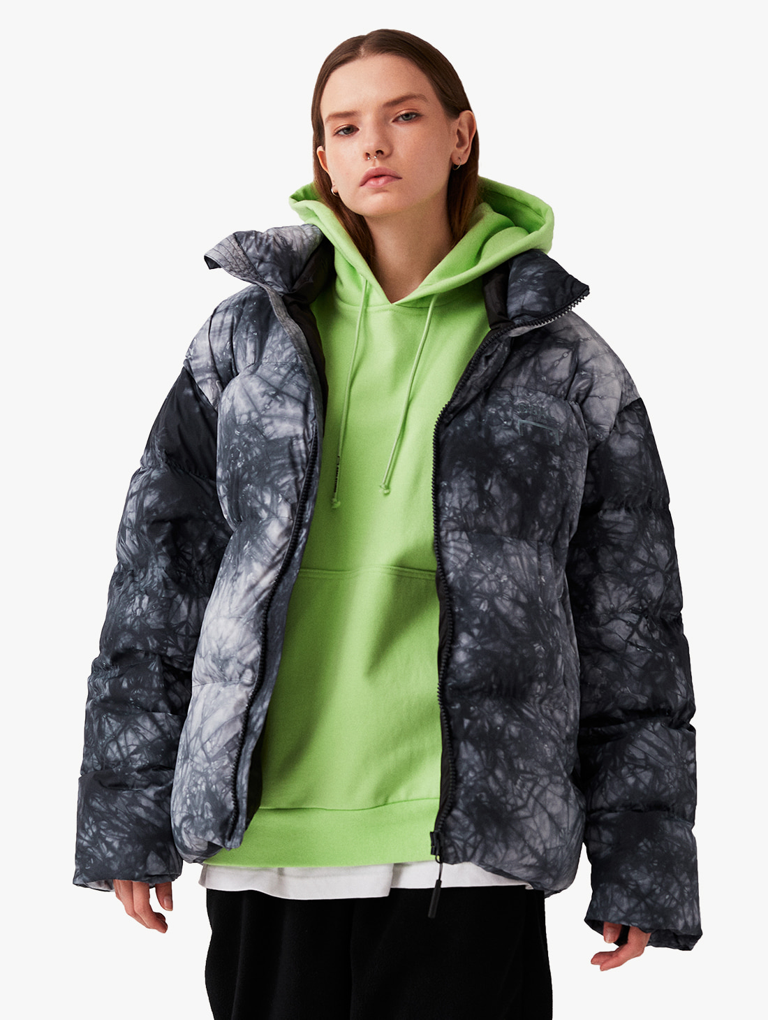 GOALSTUDIO TIE DYE DOWN JACKET
