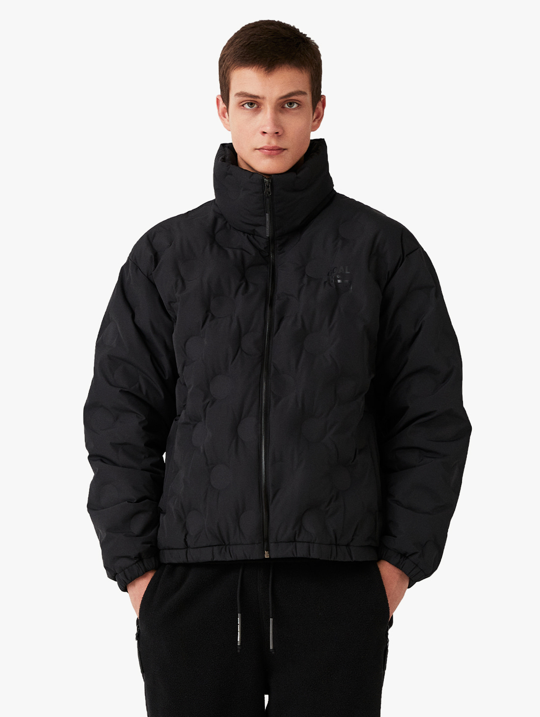 GOALSTUDIO EMBOSSING LIGHT DOWN JACKET - BLACK