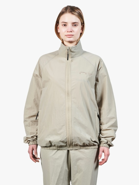 GOALSTUDIO LOGO EMBROIDERY JACKET - BEIGE