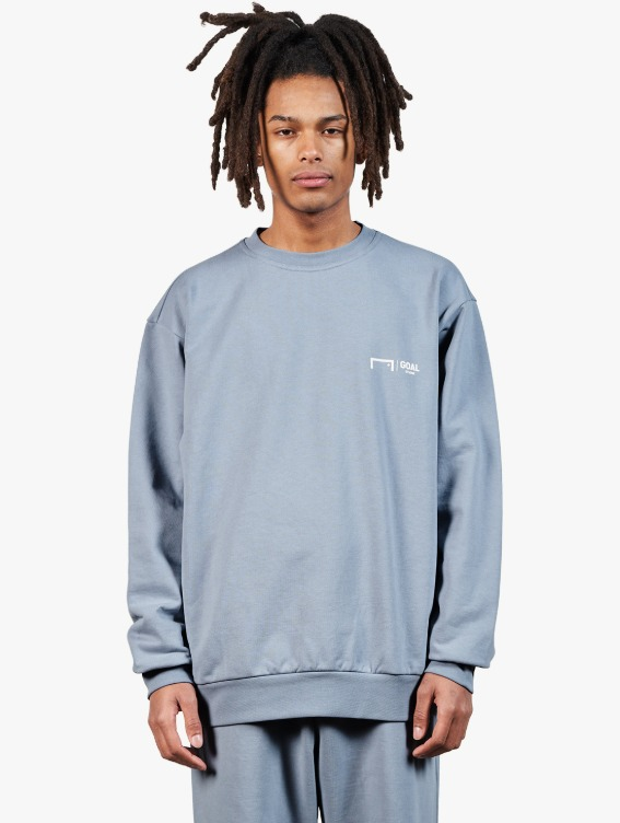 GOALSTUDIO SIGNATURE LOGO SWEATSHIRT - BLUE GREY