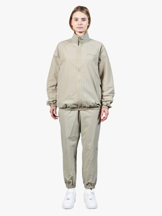 GOALSTUDIO [10% OFF] LOGO EMBROIDERY JACKET & JOGGER PANTS SET - BEIGE