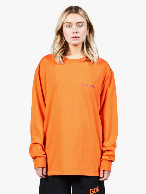 GOALSTUDIO HEART BALL GRAPHIC LONG SLEEVE TEE - ORANGE