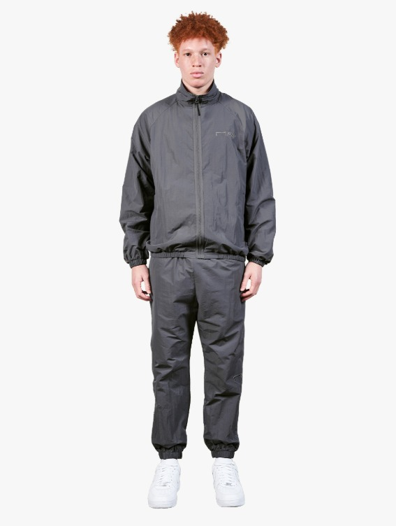 GOALSTUDIO [10% OFF] LOGO EMBROIDERY JACKET & JOGGER PANTS SET - GREY