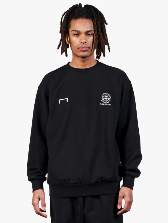 GOALSTUDIO PEARL BALL PATCH SWEATSHIRT - BLACK