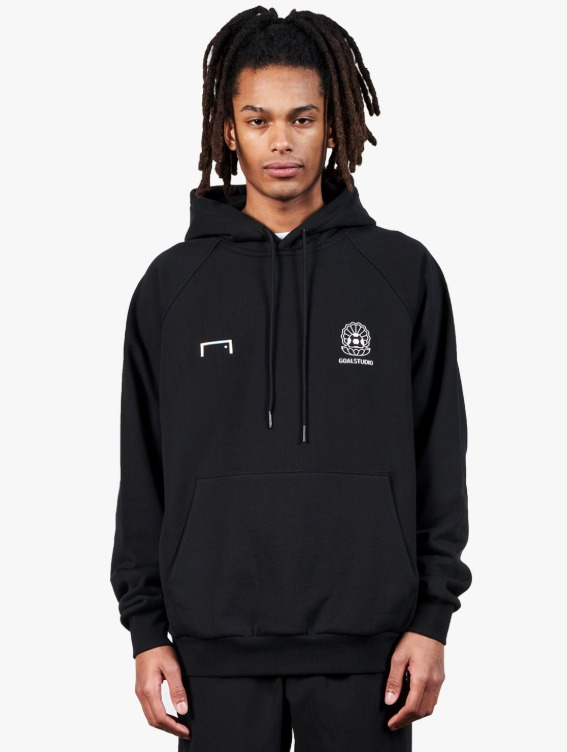 GOALSTUDIO PEARL BALL PATCH HOODIE - BLACK