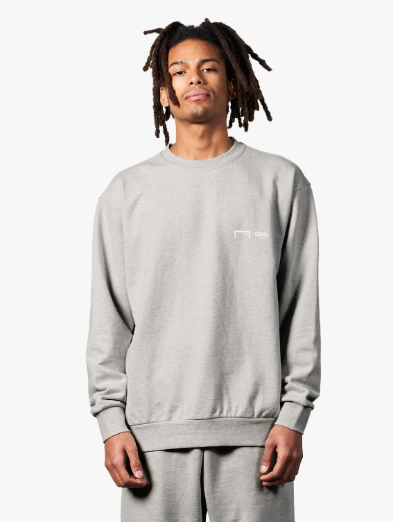GOALSTUDIO SIGNATURE LOGO SWEATSHIRT - MELANGE GREY
