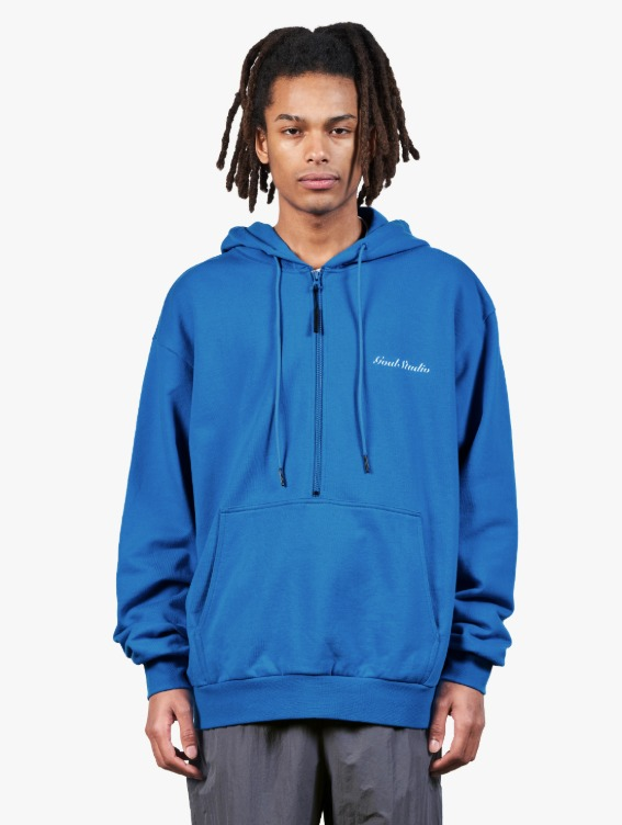 GOALSTUDIO HEART BALL GRAPHIC HOODIE - BLUE