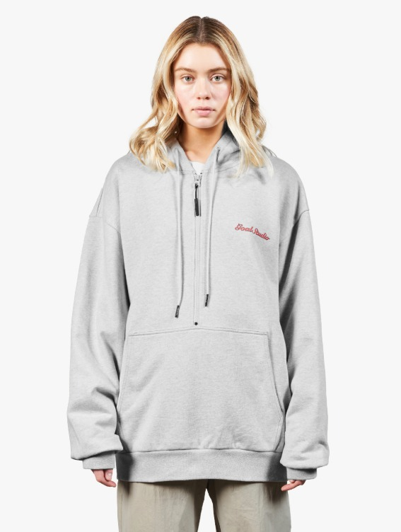 GOALSTUDIO HEART BALL GRAPHIC HOODIE - MELANGE GREY