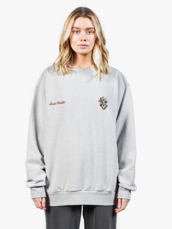 GOALSTUDIO HEART BALL SWEATSHIRT - MELANGE GREY