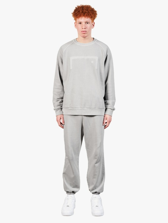 GOALSTUDIO [10% OFF] PIGMENT DYE SEWATSHIRT & JOGGER PANTS SET - GREY