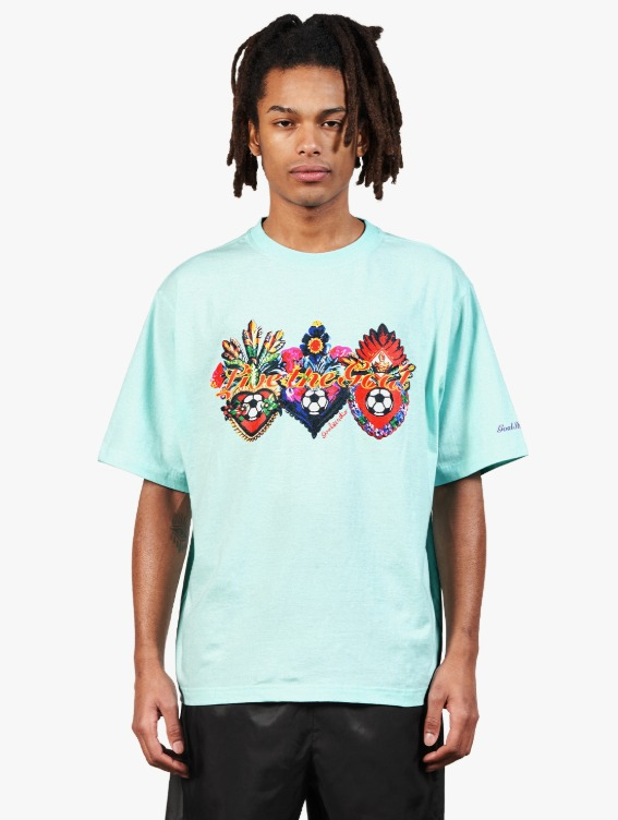 GOALSTUDIO HEART BALL GRAPHIC TEE - SKY BLUE