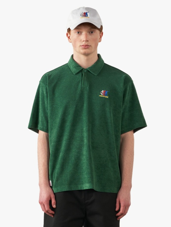 GOALSTUDIO FREE KICK CAPSULE TERRY POLO SHIRT - GREEN