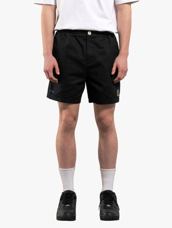 GOALSTUDIO FREE KICK CAPSULE COTTON CHINO SHORTS - BLACK