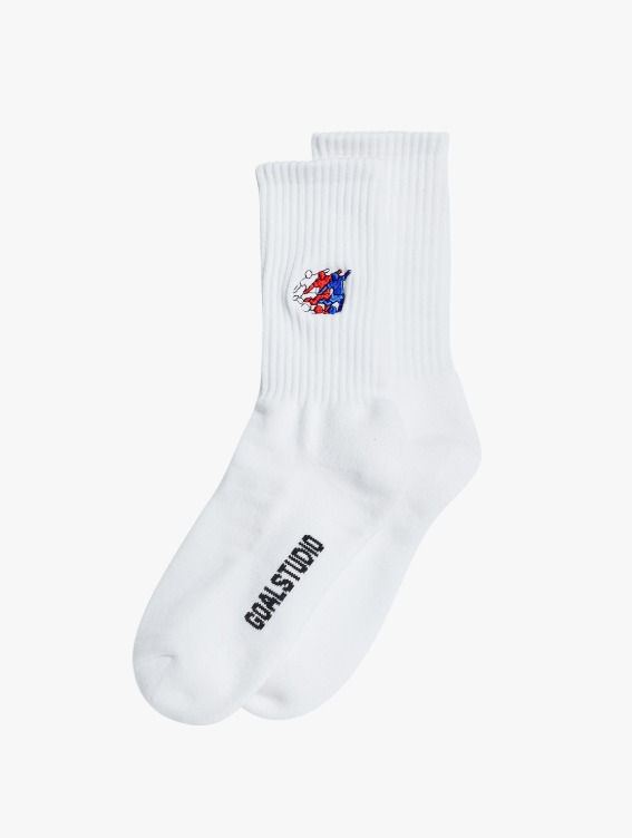 GOALSTUDIO FREE KICK CAPSULE SOCKS - WHITE