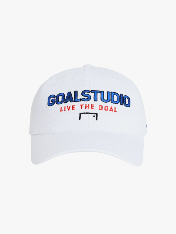 GOALSTUDIO FREE KICK CAPSULE LOGO BALL CAP - WHITE