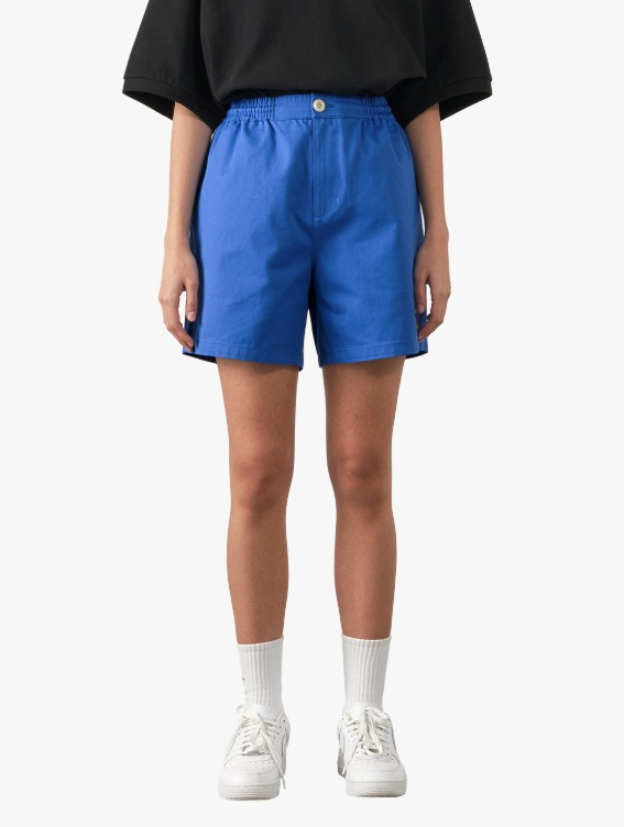 GOALSTUDIO FREE KICK CAPSULE COTTON CHINO SHORTS - BLUE