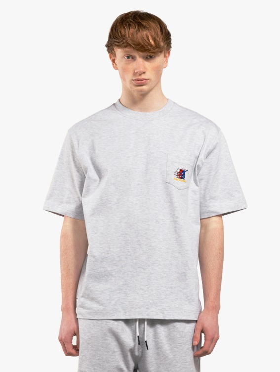 GOALSTUDIO FREE KICK CAPSULE POCKET TEE - MELANGE GREY