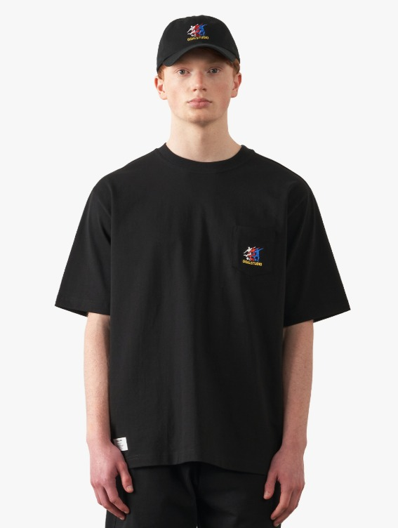 GOALSTUDIO FREE KICK CAPSULE POCKET TEE - BLACK