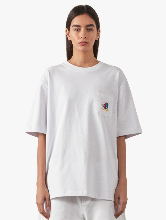 GOALSTUDIO FREE KICK CAPSULE POCKET TEE - WHITE