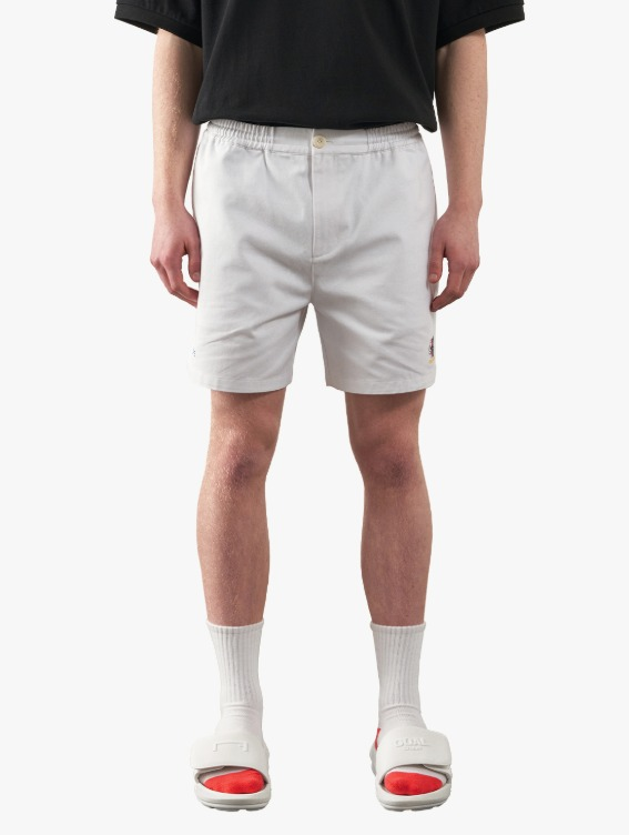 GOALSTUDIO FREE KICK CAPSULE COTTON CHINO SHORTS - WHITE
