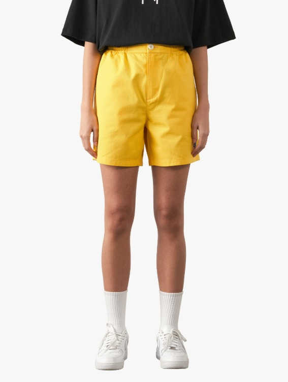 GOALSTUDIO FREE KICK CAPSULE COTTON CHINO SHORTS - YELLOW