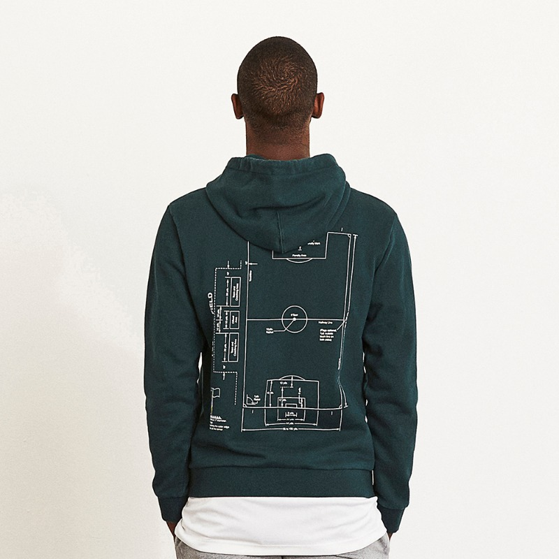GOALSTUDIO (Less than 5) FOOTBALL FIELD HOODIE