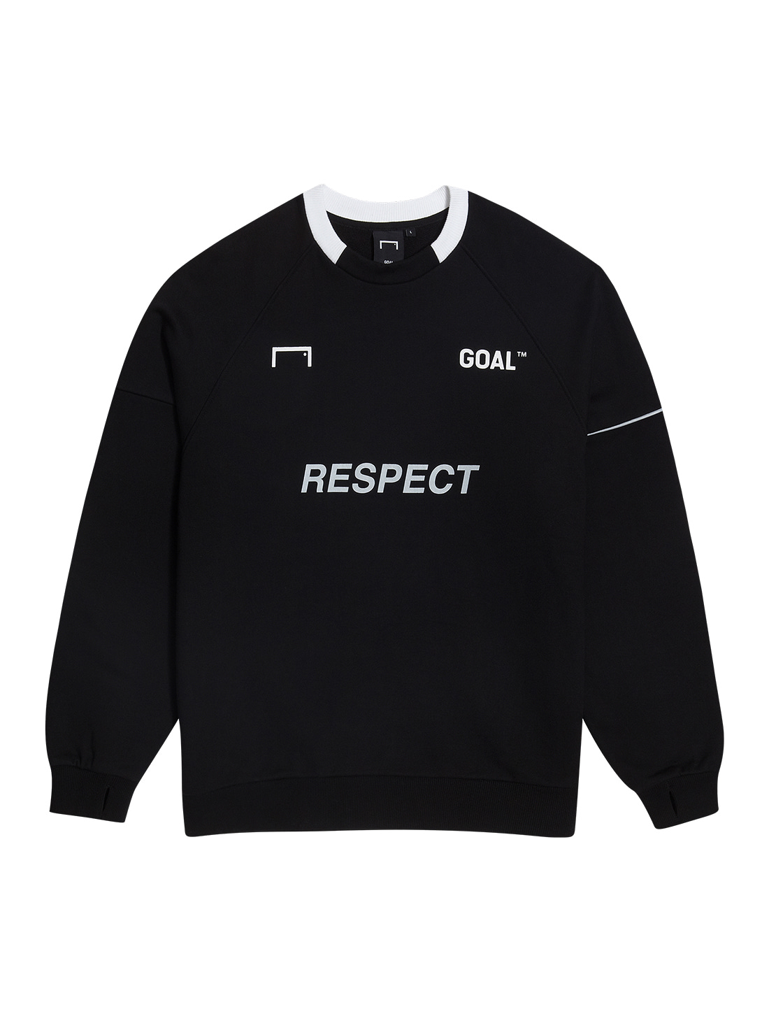 GOALSTUDIO (L,2XL)RESPECT SWEATSHIRT - BLACK