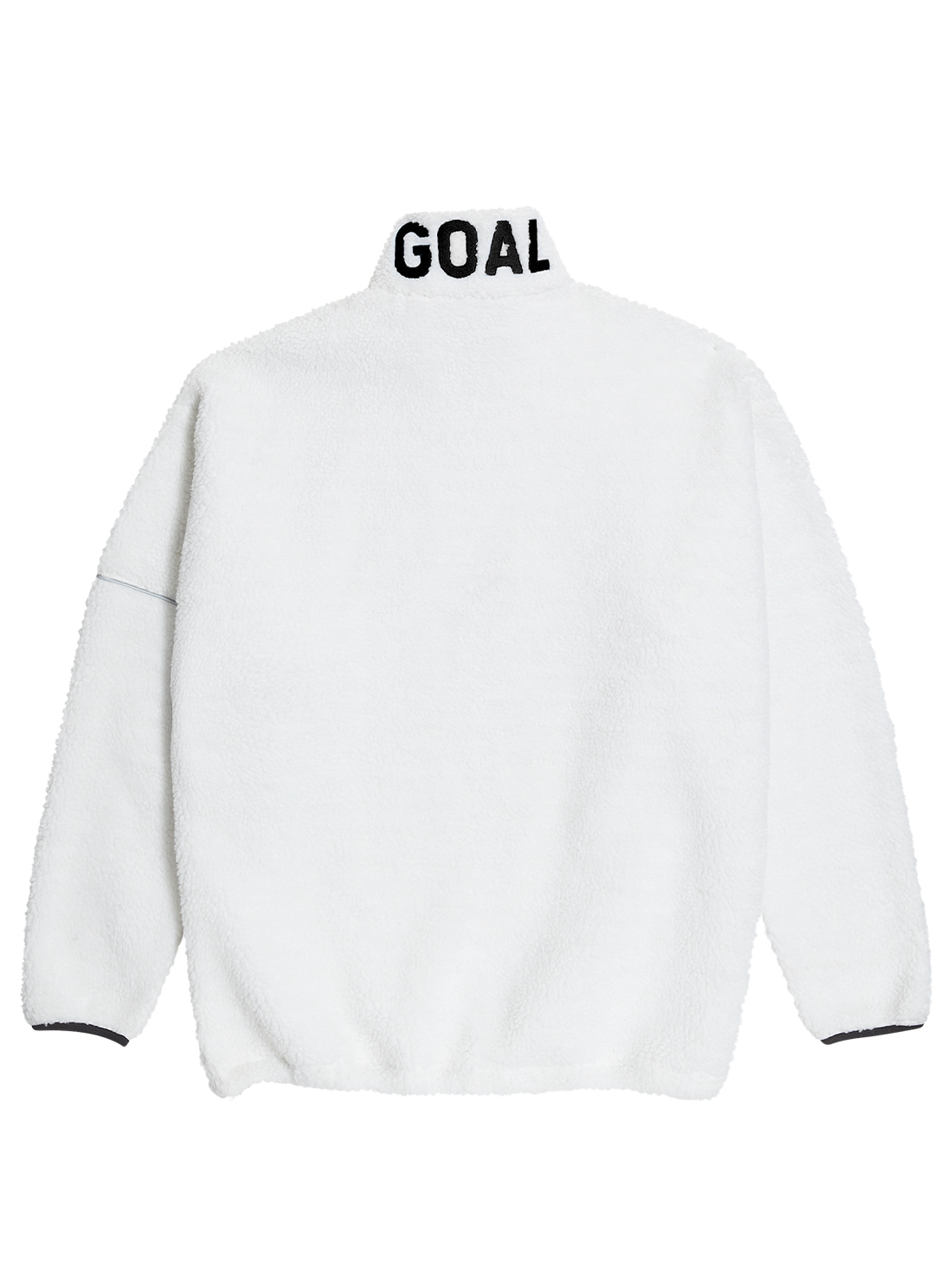 GOALSTUDIO (Sold Out) FLEECE ZIP UP PULLOVER - WHITE
