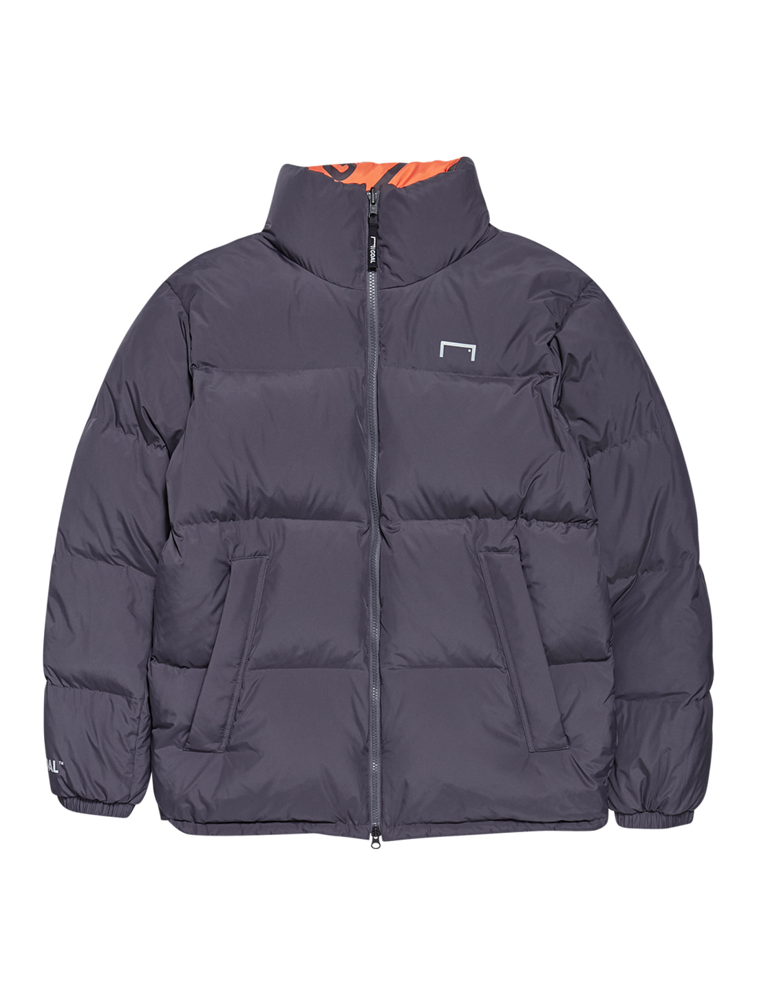 GOALSTUDIO (L,XL)REVERSIBLE DOWN PARKA - GREY/ORANGE