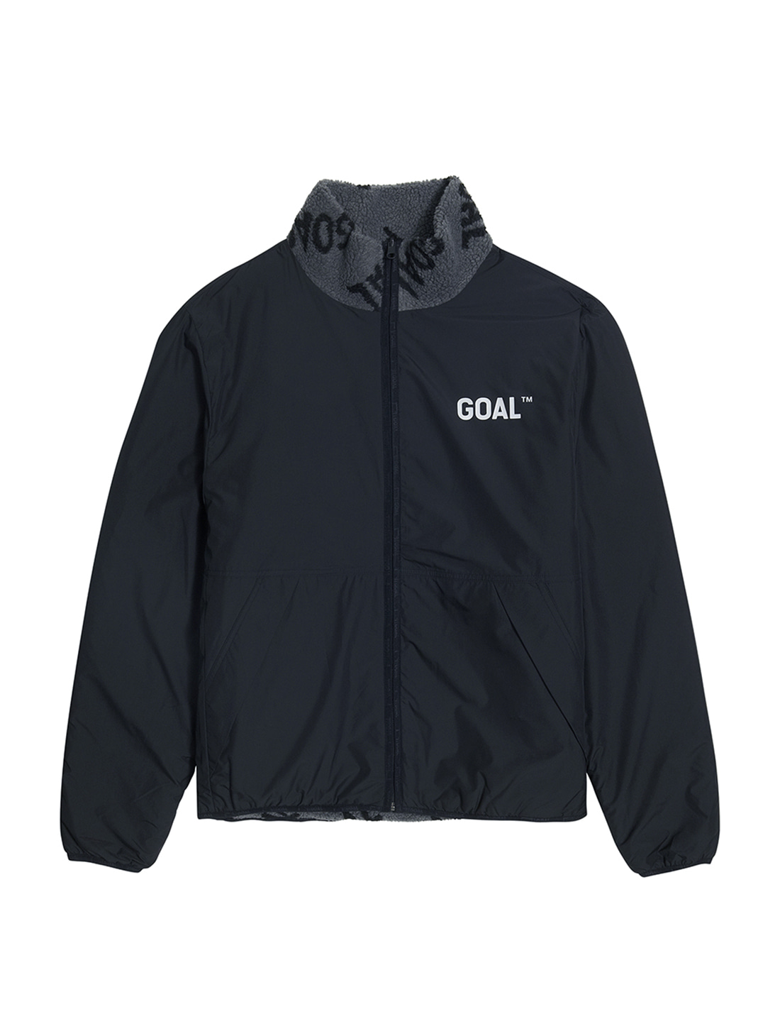 GOALSTUDIO REVERSIBLE FLEECE JACKET - GREY/BLACK