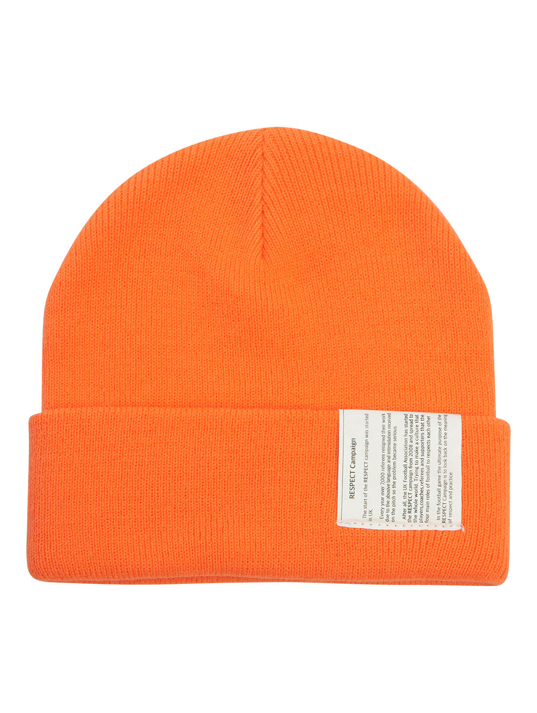 GOALSTUDIO RESPECT LABEL BEANIE - ORANGE