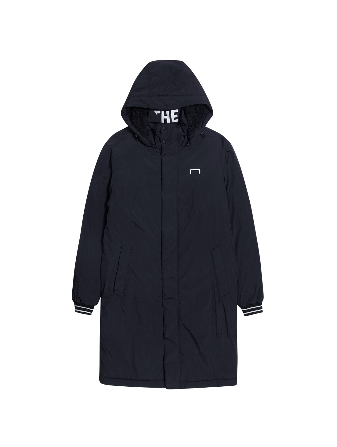 GOALSTUDIO BIG LOGO LONG PARKA - BLACK