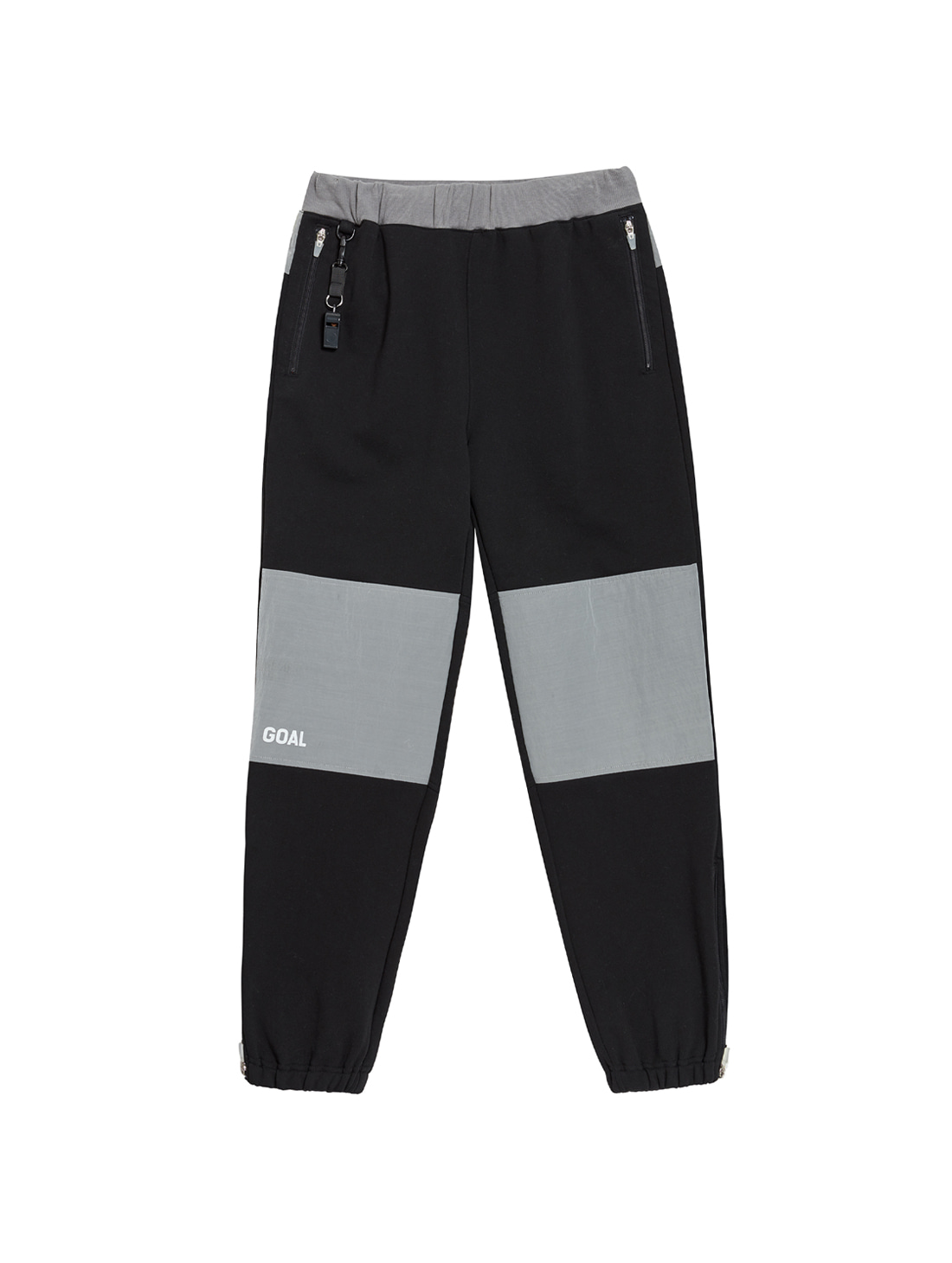 GOALSTUDIO NYLON METAL MIXED TRACK PANTS - BLACK