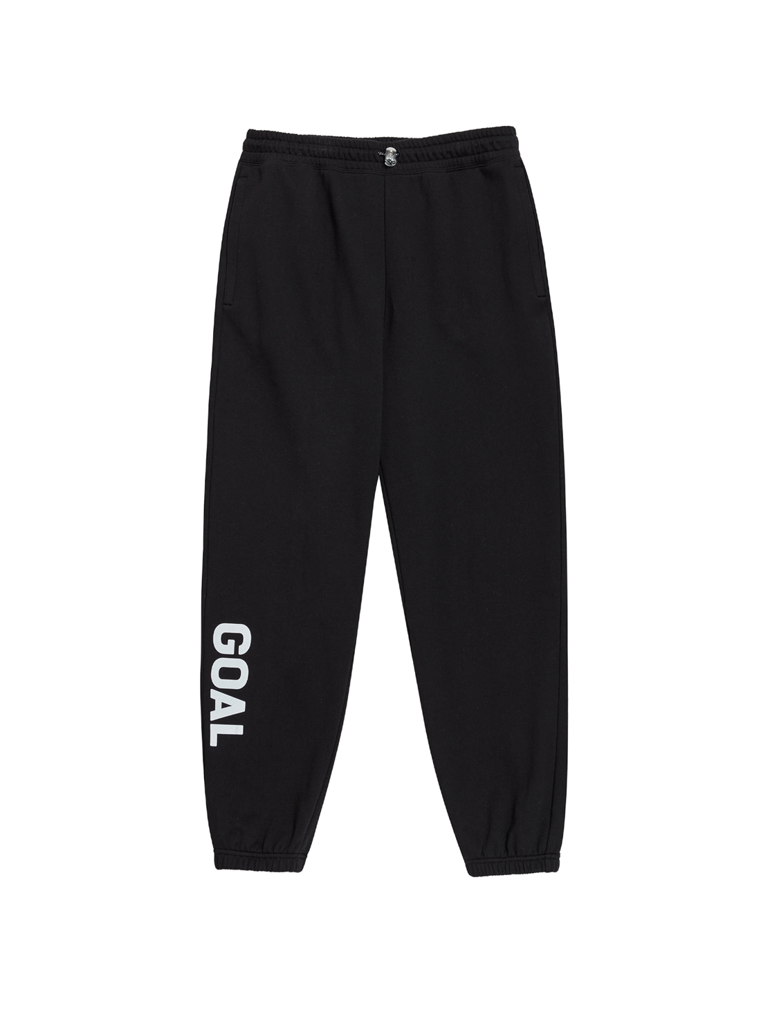 GOALSTUDIO FLOCKING KNIT JOGGER PANTS - BLACK