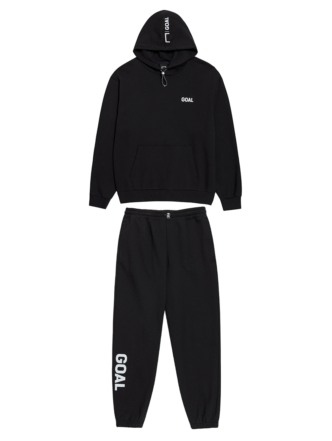 GOALSTUDIO [10% OFF] FLOCKING HOODIE & PANTS SET - BLACK