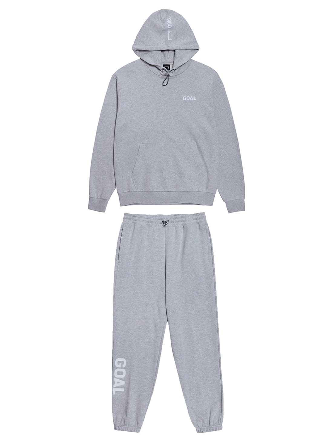 GOALSTUDIO [10% OFF] FLOCKING HOODIE & PANTS SET - GREY