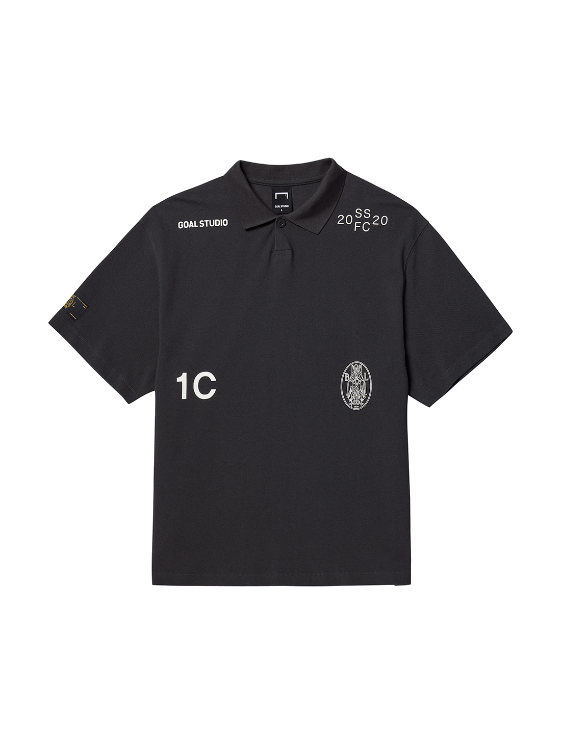 GOALSTUDIO SSFC PIQUE COLLAR SHIRT - CHARCOAL