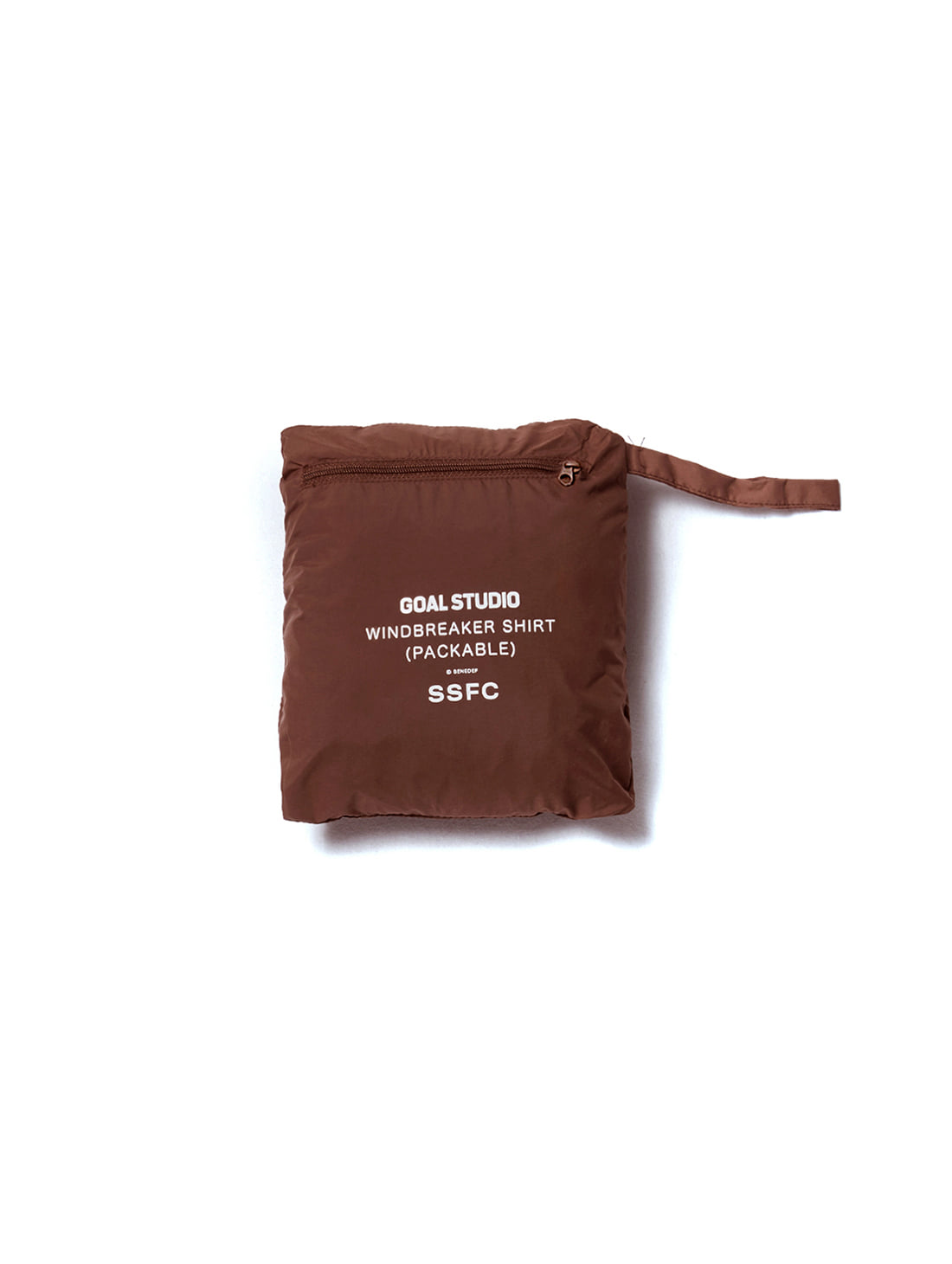 GOALSTUDIO SSFC WINDBREAKER SHIRT - BROWN